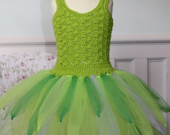 Handmade Tinkerbelle Inspired Tutu Dress