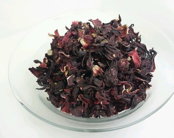 100% ORGANIC Hibiscus Flowers loose herbal Tea Saltadorio Herbs direct from Portugal