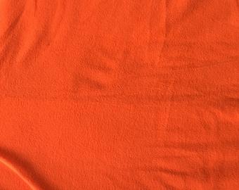 Hunter Orange Fleece Fabric, Anti Pill Fleece Fabric