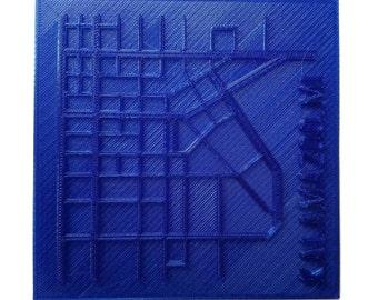 3D printed city coaster set - Kalamazoo