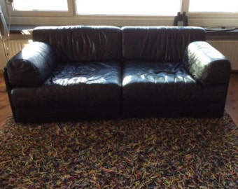 De Sede leather sofa DS76 also as sofa bed to use