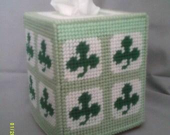 Clover/Irish Tissue Box Cover