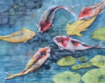 Six Koi Fish