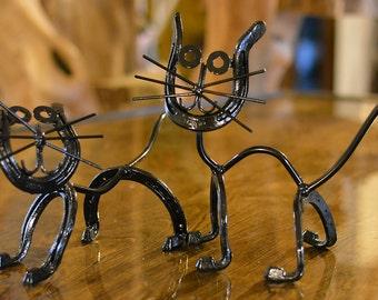 Handmade Cat or Kitten Sculpture