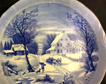 The homestead in winter currier and Ives