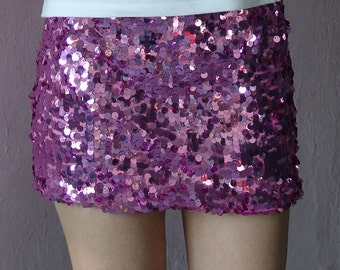 Pink  Paillettes Mini Skirt