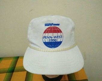 Rare Vintage PEPSICO Share Power | PENN WEST 1990 Cap Hat Free size fit all