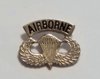 US ARMY AIRBORN Lapel Pin, Hat Pins, Military Accessories Military Pins, Free Shipping