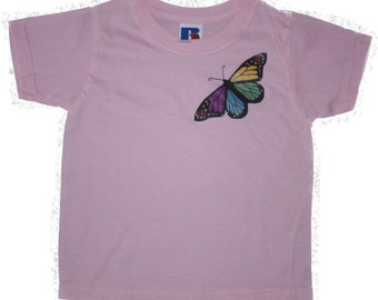 """Girls """"Butterfly"""" T-shirt FREE SHIPPING within UK"""
