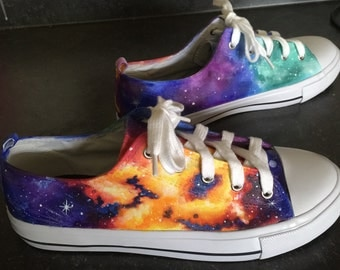 Galaxy shoes - hand painted