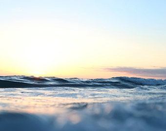 Wave Beach Print San Diego California Art Ocean Photography Peaceful Nature Photo Colorful Picture Bright Room Wall Art Sunset Home Decor
