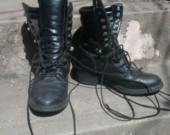 Women's western work boots 7 black
