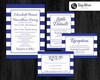 Bold Stripes Suite - Printable wedding invitations - personalized wedding invitation set