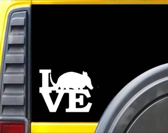 Armadillo Love Decal Sticker *J557*