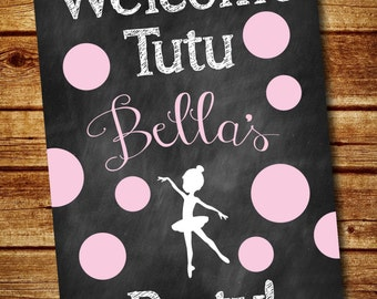 Ballerina Welcome Sign • Digital • Printable