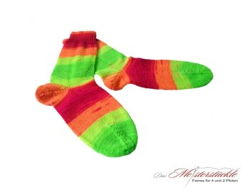 Wellness socks hand-knitted size 38-40
