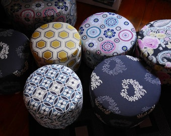 Pouf made from the fabric of your choice