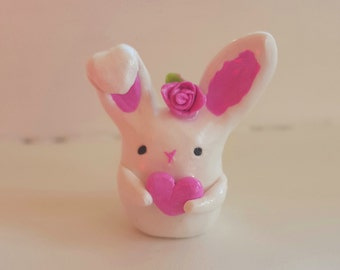 Bunny Love Clay Figurine