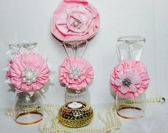 pink shabby chic flowers