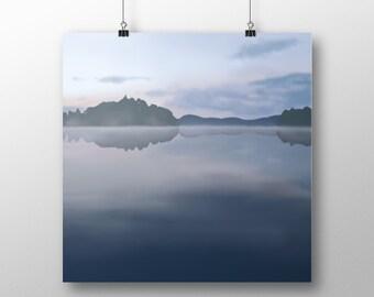 Foggy Lake, Art Print