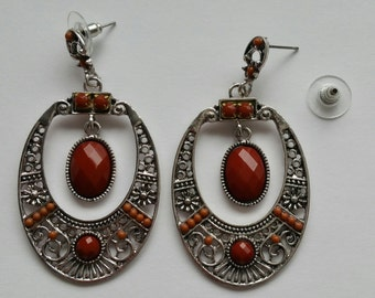 Earrings (Brown)