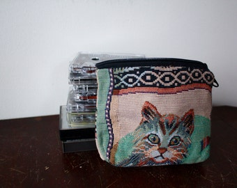 adorable vintage cat change purse!