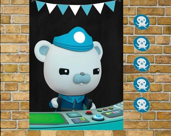 Octonauts  Pin the Patch on Barnacles, Sale!! A2 size poster game Print your own Instant Downlaod