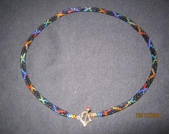 Double Helix Sacred Hoops necklace