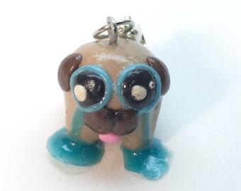 Crying pug Charm