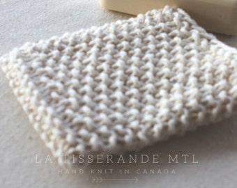 Knitted soap saver - Coton soap bag
