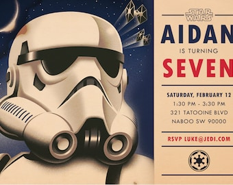 Star Wars Imperial Army Stormtrooper Inspired Birthday Invitation - Digital Download - Customized