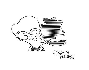 John Rose Signed Sketch Reprint