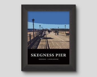 Skegness Pier - Version 3 - Skegness Poster Print Home Decoration Wall Hanging