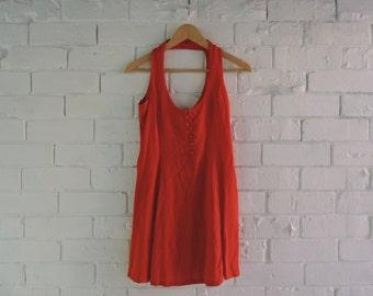 Vintage Orange Beach Dress