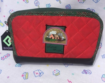 Vintage Busquets Soft Pencil Case/Cosmetic Pouch - Scottish Country Design