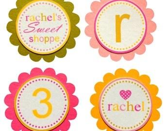 Lollipop Cupcake Toppers (24), Sweet Shoppe Cupcake Toppers, Cupcake Toppers, Lollipop Birthday, Sweet Shoppe Birthday