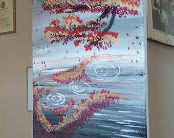 "KimberlyCArt - 12""x16"" acrylic painting - ""Drips"""