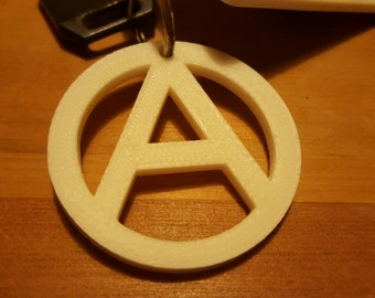 Anarchy Logo Keychain