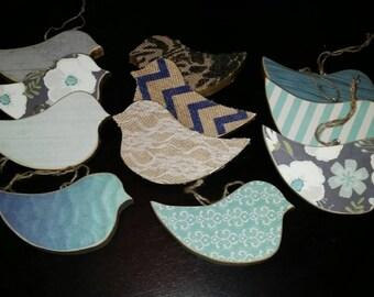 Wooden Bird Ornaments