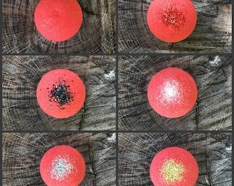 Red Bath Bomb Red Bath Fizzy Glitter Bath Bomb