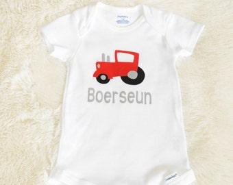 Boereseun babygrow,Boerseun onesie,Afrikaans onesie,South African,cute onesie,South African baby,