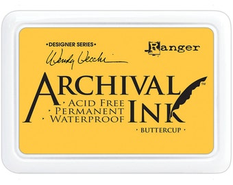 Ranger Archival Ink Buttercup - Yellow Ink - Yellow Archive Ink - Ranger Yellow Ink - Permanent Yellow Ink - Waterproof Ink