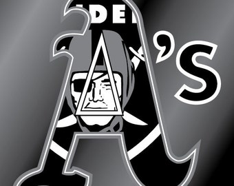 Athletics Raiders Vinyl Decal Sticker