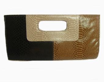 Genuine Faux Leather Clutch Purse, Evening Clutch, Bag, Giannini, Vintage