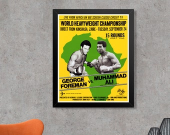 Muhammad Ali George Foreman Rumble In The Jungle Boxing Poster Art Print