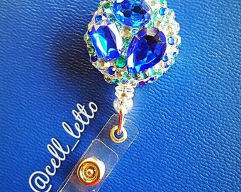 Sparkly Gem Badge Holder -- can be made in any color!