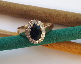 Gold Rings with Onyx