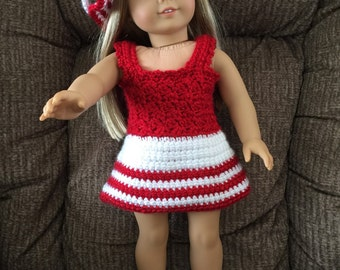 American Girl Doll Dress, Hat and Shoes