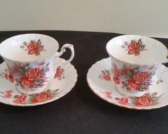 Royal Albert Centenial Rose Tea Cups and Saucers
