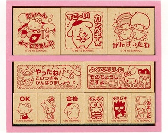 """Stamp""""Sanrio Characters Wooden Stamp Set""""SDH-088"""